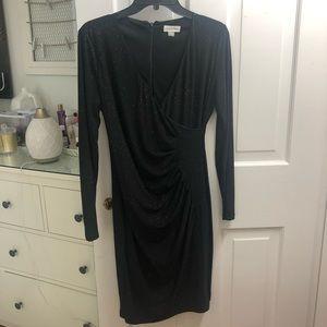 Calvin klein evening dress (black & gem texture)